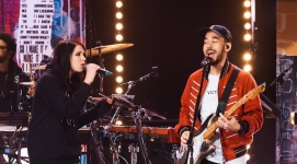 Mike et K.Flay au Late Late Show